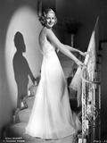 Joan Bennett on a Gown and smiling Photo by  Movie Star News