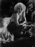 Jean Harlow Posed in White Dress Photo by  Movie Star News