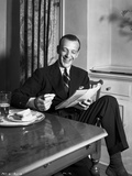 Fred Astaire laughing in Portrait Photo by  Hendrickson
