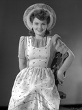 Anne Baxter on smiling and posed Photo by  Movie Star News