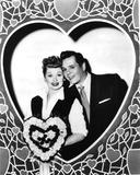 Lucille Ball Posed in Heart Frame Photo by  Movie Star News
