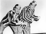 Abbott & Costello in Stripe Suit Photo by  Movie Star News