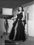 Rita Hayworth in Black Long Dress Photo by  Movie Star News