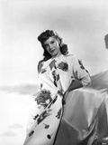 Dinah Shore Posed in Floral Dress Photo by  Movie Star News