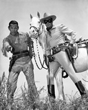 Lone Ranger Clayton Moore posed Photo by  Movie Star News