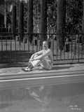 Fred Astaire Seated on Poolside Photo by J Miehle