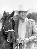 Dale Robertson with Horse Portrait Photo by  Movie Star News
