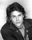Rob Lowe in Black Coat Portrait Photo by  Movie Star News