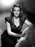 Janis Paige on an Embroidered Top Photo by  Movie Star News