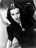 Vivien Leigh posed in Black Dress Photo by  Movie Star News