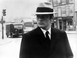 Alain Delon in Black Suit With Hat Photo by  Movie Star News