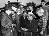 Gene Autry Surrounded by a Crowd Photo by  Movie Star News