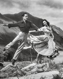 Brigadoon Woman and Man Jump Pose Photo by  Movie Star News