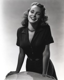 Janet Leigh posed in Black Dress Photo by  Movie Star News