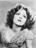 Clara Bow Posed in Printed Blouse Photo by  Movie Star News