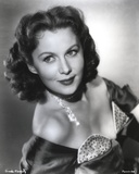 Rhonda Fleming smiling in Dress Photo by  Movie Star News