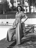 Rita Hayworth Posed with a Hoody Photo by Irving Lippman