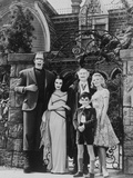 Munsters Posed in Black and White Photo by  Movie Star News