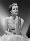 Maureen O'Hara Posed in White Gown Photo by E Bachrach