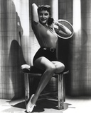 Paulette Goddard Posed in Shirt Photo by  Movie Star News