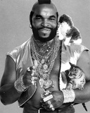 Mister T Posed in Blazer With Cat Photo by  Movie Star News