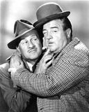 Abbott & Costello in Suit hugging Photo by  Movie Star News