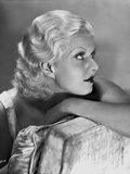 Jean Harlow Portrait in Silk Dress Photo by CS Bull