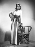 Rita Hayworth Leaning on Arm Chair Photo by A.L. Schafer