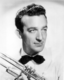 Harry James in White With Trumpet Photo by  Movie Star News
