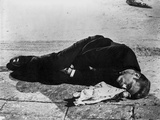 James Dean Laying Down in Classic Photo by Floyd Mccarty