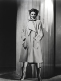 Loretta Young White Fashion Coat Photo by  Movie Star News