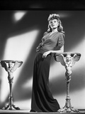 Rita Hayworth Posed in Long Skirt Photo by Robert Coburn