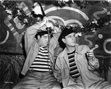 Abbott & Costello in Stripe Shirt Photo by  Movie Star News