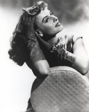 Paulette Goddard Posed on Chair Photo by  Movie Star News