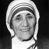Mother Teresa Portrait in Classic Photo by  Movie Star News