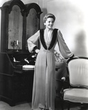 Joan Fontaine Holding on a Chair Photo by  Movie Star News