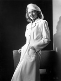 Donna Reed on a Coat and Leaning Photo by  Movie Star News