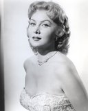 Rhonda Fleming smiling in Blouse Photo by  Movie Star News