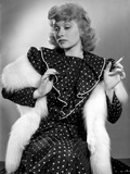 Lucille Ball in Polka Dotted Dress Photo by E Bachrach