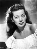 Gail Russell Posed in White Dress Photo by  Movie Star News