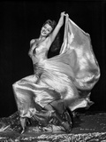 Rita Hayworth posed in Long Gown Photo by  Movie Star News