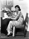 Anna Wong Working on Her Desk Photo by  Movie Star News