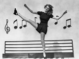 Rita Hayworth Dancing in Dress Photo by Ned Scott