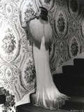 Loretta Young White Long Dress Photo by  Movie Star News