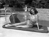 Rita Hayworth posed in Swimsuit Photo by  Movie Star News