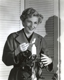 Joan Fontaine wearing a Coat Photo by  Movie Star News