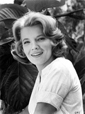 Gena Rowlands smiling in White Photo by  Movie Star News