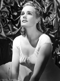 Frances Farmer Looking Up Portrait Photo by  Movie Star News