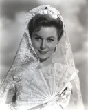Rhonda Fleming smiling in Veil Photo by  Movie Star News