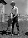Gene Autry Posed with a Pony Photo by  Movie Star News